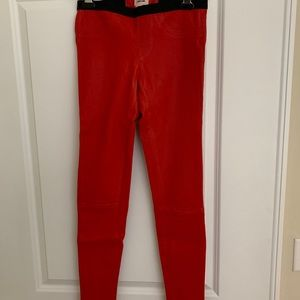 Helmut Lang Stretch Plonge Leather Leggings Sz 4